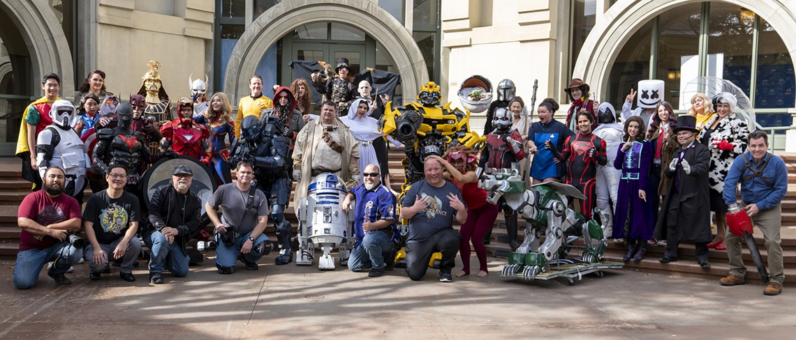 A group shot of the Science Fiction Coalition members