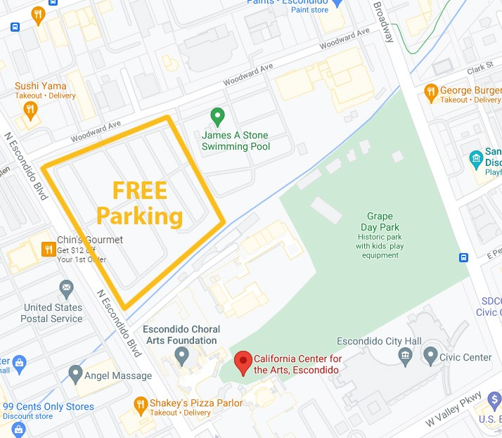 You can find free parking on the north-west side of the venue.
